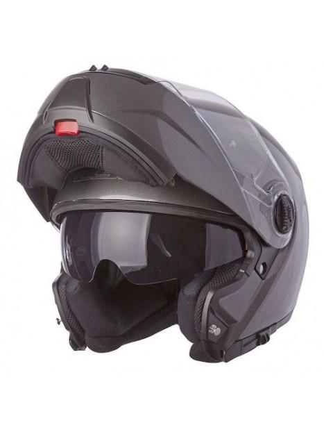 Casco Moto Ls2 Ff325 Abatible Strobe Zone Negro Rojo