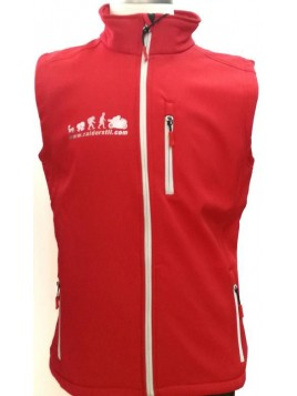 CHALECO SOFTSHELL RAIDERSTIL ROJO